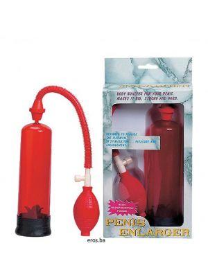 Pumpa za penis Enlager crvena